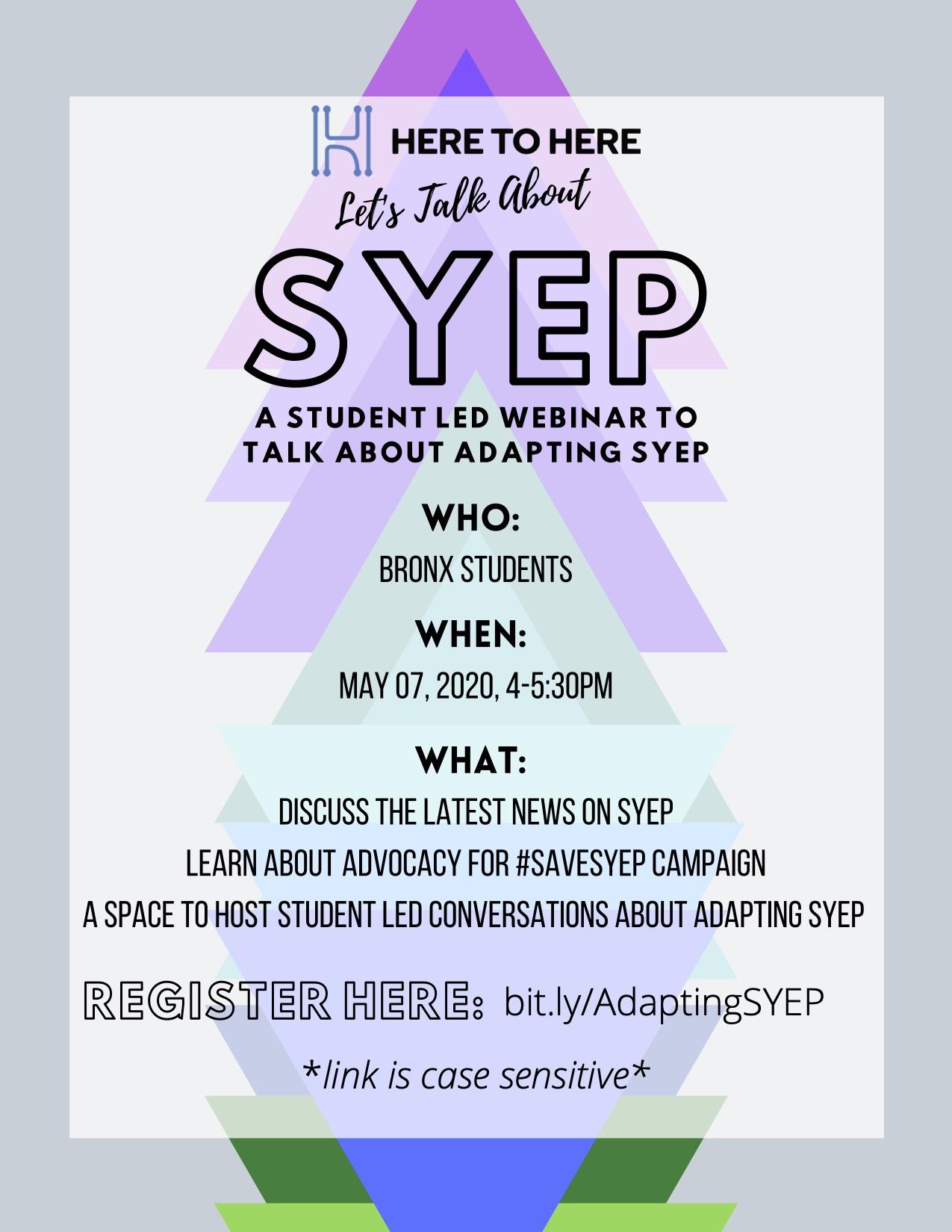 SYEP webinar flyer